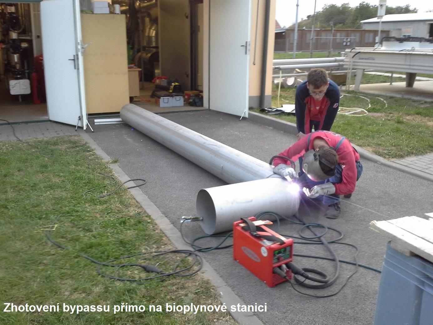 Obchvat spalinového výměníku (bypass) = snížení elektrické spotřeby Vaší bioplynové stanice