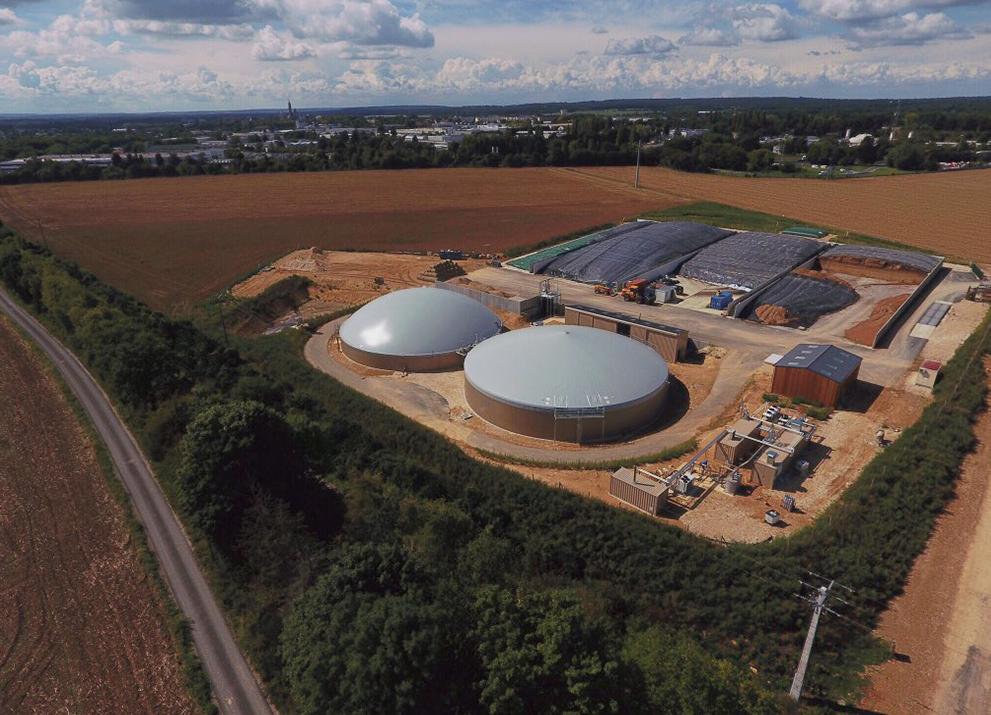 Kompaktní, modulární konstrukce nabízí zákazníkům maximální flexibilitu: dodávka biometanu EnviThan ve Francii